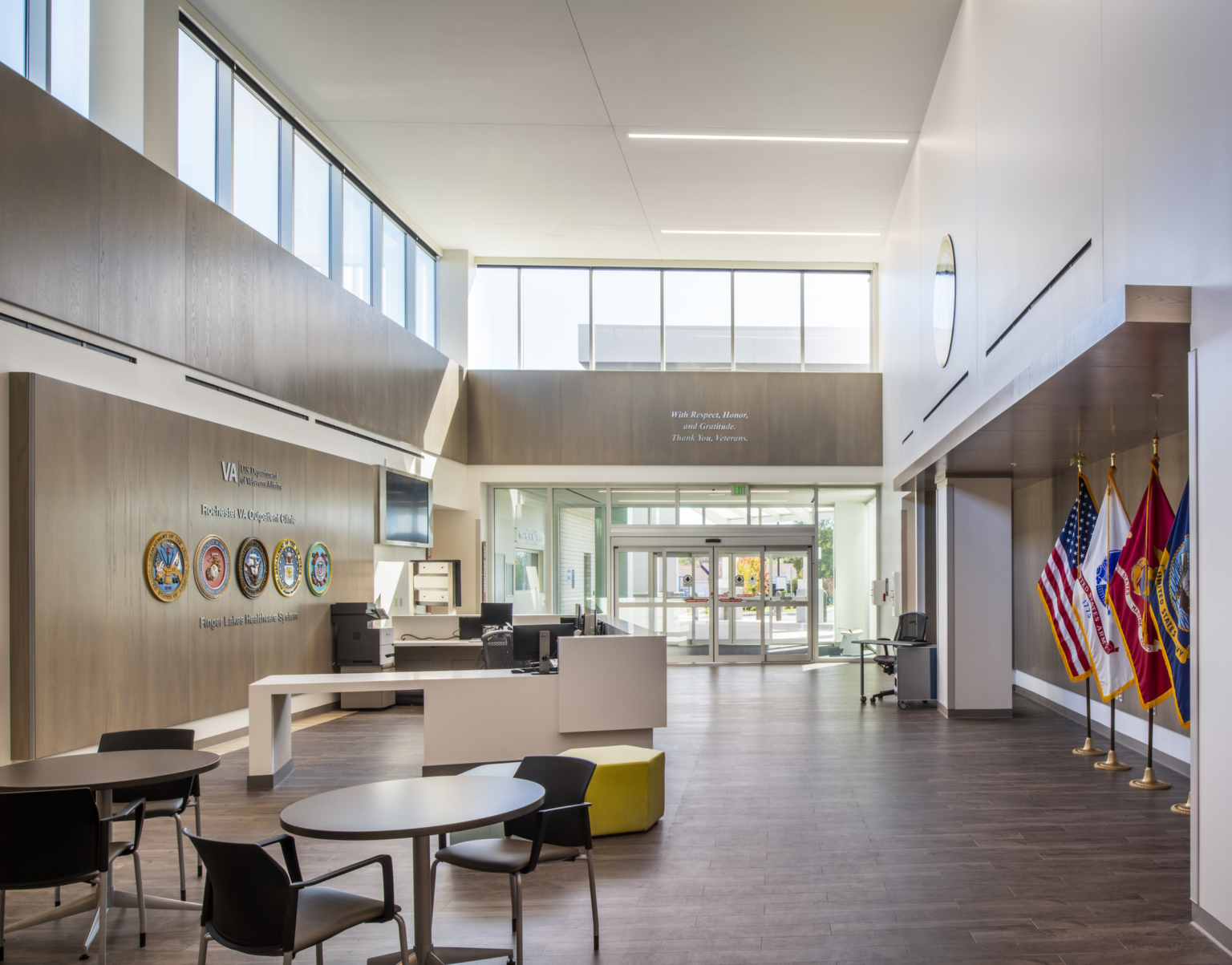 Lobby at VA Rochester Calkins Outpatient Clinic